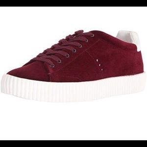 Aldo New Zealand Platform Burgundy Sneakers Red